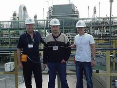Tengiz plant (azyl7) Tags: hardhat plant badge kazakhstan davidfielding asylzhan tengiz kevingibney minifilter