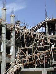 togetup (urban penguin) Tags: africa building tanzania ramp structure frame scaffold build buildingsite