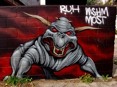Ghostbuster Demon Dog (See El Photo) Tags: street 15fav streetart art wall 510fav graffiti paint horns 10f most 100views demon 200views spraypaint 3f ghostbusters cbs 1000views demondog 4f 1f faved ruh 1015fav 5f 2f 222v2f 111v1f 11f 1300views 1000v10f wishm seeelphoto chrislaskaris