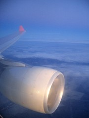 nwa A330-300 wing, from seat 10A