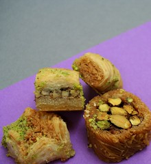 Baklava - Arabic Sweets (Sunshine Hanan) Tags: turkey dessert sweet turkiye nuts arabic pastry turkish turkishfood baklava