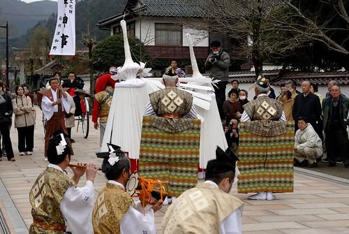 traditional Japanese dance of heron (Sagi-Mai)