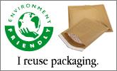 I reuse packaging.