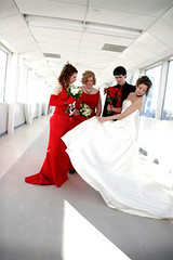 (scottintheway) Tags: flowers wedding red party 20d love canon groom bride dress reddress efs1785is