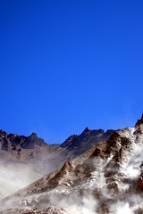 back to nature (alvazer) Tags: chile blue sky mountain color argentina border mendoza land dust montaa cavein frontera cordillera losandes polvo derrumbe alvazer vazer