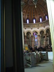 The orchestra  setting up (ajepst) Tags: chorus 2006 richmond masterworks cathedralofthesacredheart richmondchoralsociety