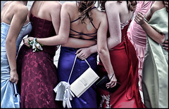 (shadowplay) Tags: calgary arms posing prom dresses purses girlfriends