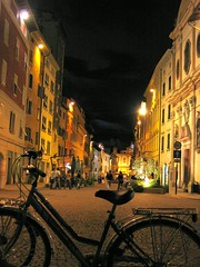 Downtown Trento with a blue hue (indoloony) Tags: 2005 longexposure travel italy college night print europe contest july best physics trento fav photocontest submit print1 interestingness341 i500 indoloony globalconnectionsinternationalcalendar seriousprints