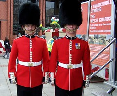 Welsh Guards (welshlady) Tags: red uniform soldiers medals regiment theworldthroughmyeyes welshguards bearskins