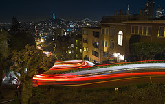 Lombard (Ali Brohi) Tags: sanfrancisco travel tourism night motionblur bayarea westcoast lombard cliche lombardstreet crookedest seedingchaos 90milesanhour moazzambrohicom httpwwwmoazzambrohicom wwwmoazzambrohicom