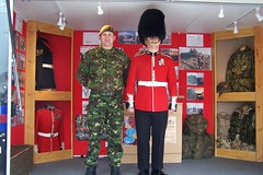Uniforms (welshlady) Tags: uk wales soldiers uniforms beret busby fatigues medals regiment bearskin theworldthroughmyeyes welshguards freedomoftheborough