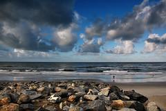 Between heaven and earth (fd) Tags: ocean california sky beach clouds landscape person rocks quality oceanside lightproofboxcom