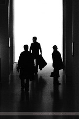 Silhouettes, Paris, France (Seven Seconds Before Sunrise) Tags: travel people bw paris france silhouette museum europe louvre