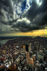 Duality (Automatt) Tags: city nyc sky ny newyork beautiful skyline clouds scary bravo cityscape savedbythedel