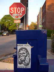 Missing (darkhairedgirl) Tags: streetart graffiti starwars chewy houston montrose chewbacca westheimer darkhairedgirl