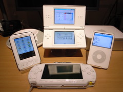 White eGadgets (digitalbear) Tags: apple japan moblog lite psp tokyo mac ipod sony nintendo ds palm macmini nintendods z22 nintendodslite