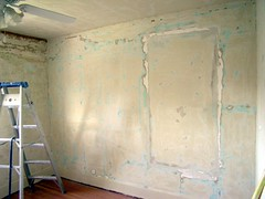 Baby Room, sanded walls