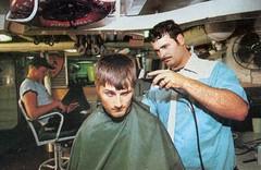 NERVOUS (haircutsz) Tags: boy haircut man hair buzz crew barber shave shorn razor stubble nape