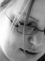 Hurricane Sally (Caro Spark) Tags: portrait bw girl face hair mujer chica retrato cara sally faccia