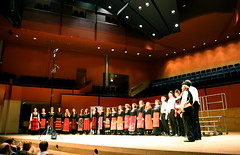 On stage in Basingstoke, BBC Radio 3 Choir of the Year 2006