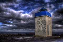 Blue ... (asmundur) Tags: blue lighthouse wow wonder iceland 100v10f hdr darksky photomatix april2006