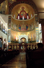 Interior of St. Paul's (phool 4  XC) Tags: lebanon gold icons mosaic awesome stpauls icon f10 catholicchurch byzantine لبنان harissa theotokos melkite بيتربروباخر phool4xc