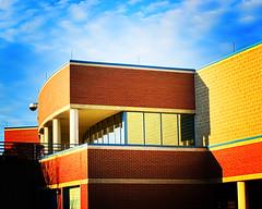 HDR Lomo (Ben McLeod) Tags: sunset building brick newspaper nikon newhampshire d200 fakelomo hdr alpenglow unionleader nikond200 50mmf14af 7xp 7exposures