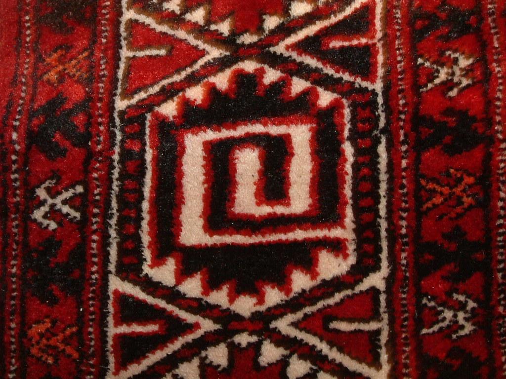 SOLD - hand-woven 6.5ft x 11ft wool asian carpet