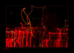 (Grace_L) Tags: abstract night digital lights drive israel crazy nikon darkness d70s blacks reds redandblack