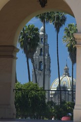 Balboa Park (cwgoodroe) Tags: california park flower water fountain pool architecture reflecting san sandiego diego fisheye sd balboa balboapark sandeigo