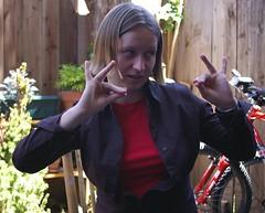 Anna Demonstrates a Mutra (a_sorense) Tags: anna dance hand mutra