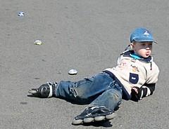 falling (Arrow's  photo) Tags: boy fall kid child rollerskates falling fallen slip skater rollers skates