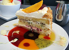 Passion Fruit Ricotta Torte (cheezemaster) Tags: california food cake fruit dinner dessert lunch blog heaven yum sandiego herbs sweet pics eating tasty fresh delicious foodporn mango meal sweets carbs supper ricotta littleitaly munch savory extraordinary munchies iatethis torte freshfruit delish foodblog extraordinarydesserts ohgod whatwereeating cybercrap