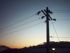 wires on a dawn (caturs) Tags: lamp sunrise post wires