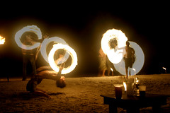 Slowing down time (iko) Tags: party beach composite thailand nightshot screensaver multipleexposure firespinning plage haadrin khophangan interestingness290 i500
