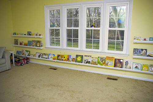 rain gutter book shelves