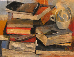 Still life with books (dgray_xplane) Tags: stilllife art topf25 schilder painting artwork artist photos kunst paintings stlouis stilleben mo missouri artists painter saintlouis oilpaintings thepleasuresofthetext painters oilpainting artworks kunstenaar naturemorte xplane naturamorta pleasuresofthetext davegray dgray dgrayxplane hetschilderen oliehetschilderen