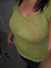 t twist tee (swandive00) Tags: knitting cotton fo knitty ttwisttee
