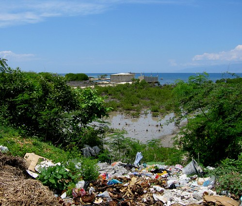 Ocean-Front view in Haiti