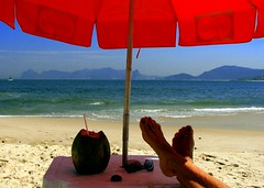 All this is mine and heaven too (neloqua) Tags: ocean blue red sea summer brazil woman sunlight feet beach water beautiful riodejaneiro umbrella wonderful wonder happy daylight fantastic sand perfect colorful coconut joy sunny bluesky summertime moment lovely charming simple magical niteroi sunnyday