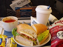 Lunch (testpatern) Tags: food train sandwich eat amtrak ate firstclass iatethis acela acelaexpress