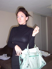 Lady in black... (jakedevine) Tags: vancouver starbucks hottie balenciaga beachavenue ledix
