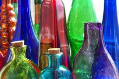 Glass Bottle Collection (Shoefitz) Tags: blue red orange color colour green glass interestingness shiny purple bottles explore transparent glassbottles coloredglass colouredglass