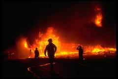 Conflagration (jetrotz) Tags: film silhouette fire screensaver flames savannah portfolio arson