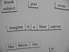 imagineISblueCANVAS (maria flash) Tags: fridge poetry poesia nevera mariaflash mariaelisaduque destrabe