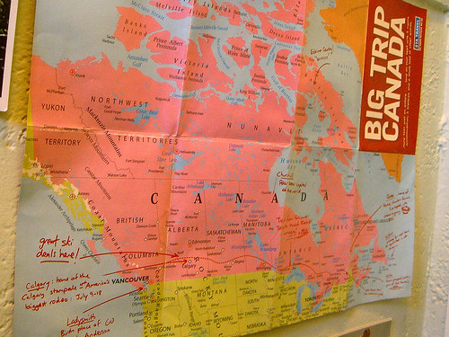 Pool Room - Item #1 - Canada Map