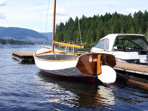 wood boat bc vancouverisland sail woodenboat cowichanlake gartside paulgartsidedesign