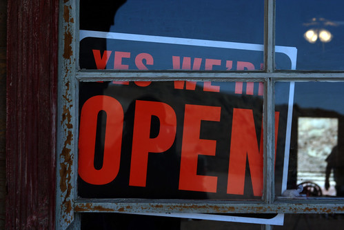 YES WE'RE OPEN - from lwr