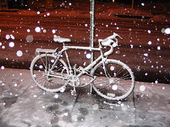 Biking in the winter provides many extra challenges. | Photo: flickr user rudiriet