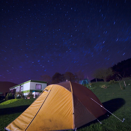 We slept under the stars